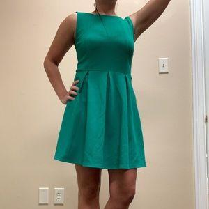 Green Cotton Shaped Dress, Size M